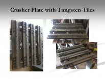 Crusher Plate with Tungsten Tiles