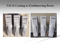 TACA Coating to Earthmoving Boots